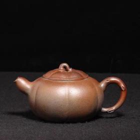 台湾回流老紫砂壶文革紫砂一厂中国宜兴款全手工柴烧窑变葫芦壶