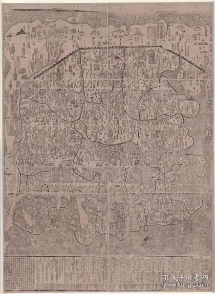 0109古地图1368-1398洪武  中国分省地图全图 法国藏本。纸本大小130.4*177.55厘米。宣纸原色微喷印制