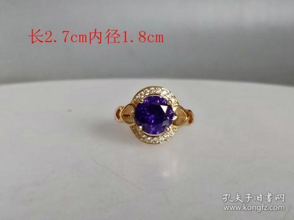 乡下收的镶嵌蓝宝石戒指..1..
