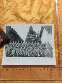 老照片:文革 32380部队司令部部分同志合影2  1976年 尺寸详见图片 保真包老