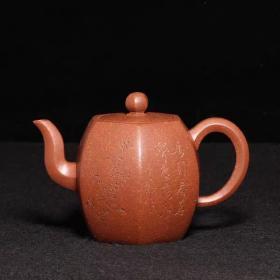 台湾回流老紫砂壶文革紫砂一厂老艺人制降坡泥全手工小品六方壶