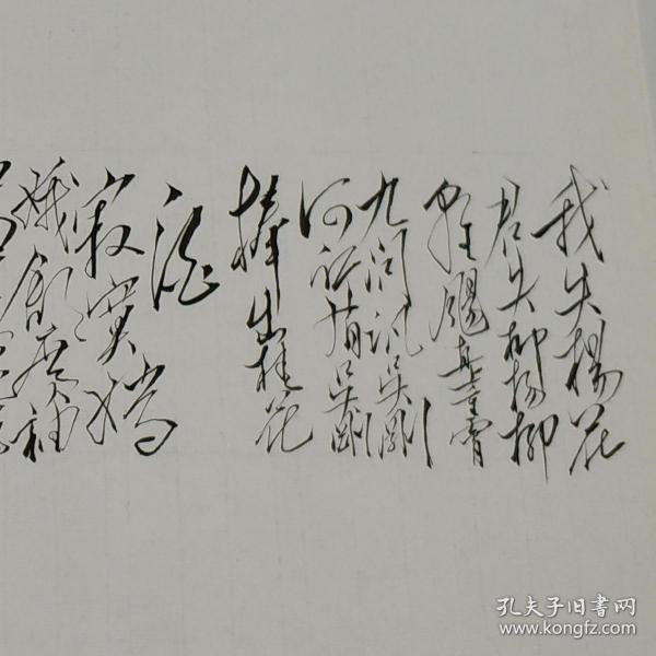 毛体书法 敬书毛主席诗词《蝶恋花.答李淑一》xd167