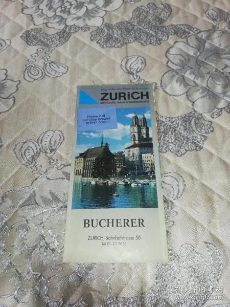 外国原版地图:BUCHERER(日内瓦地图,约80cm*80cm)