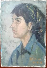 油画维吾尔族少女