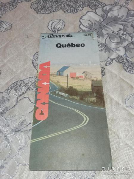 外国原版地图:Quebec(魁北克地图,约60cm*110cm)