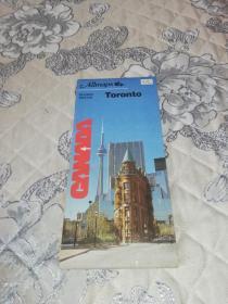 外国原版地图:Toronto(多伦多地图,约60cm*110cm)