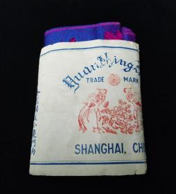 民国时期上海源兴祥号'双凤牌'原套包装老绣品【包邮】