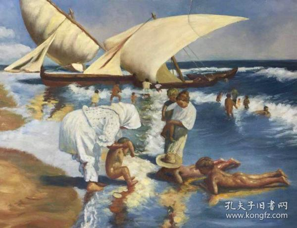 海景油画f