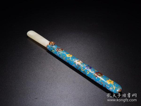 旧藏:乾隆款·和田玉措金匕首