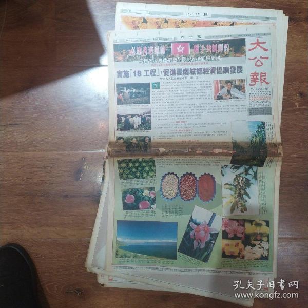 1997年6月30日,香港回归祖国专辑,大报一份,多图多张,可拍图