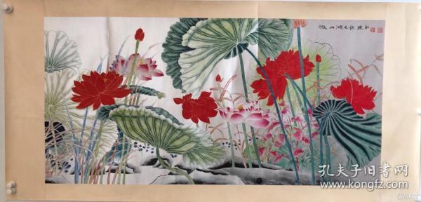 莫晓松         纯手绘        国画(卖家包邮)              工艺品