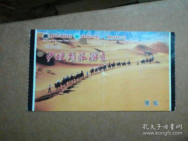 沙坡头旅游景区项目票——骆驼