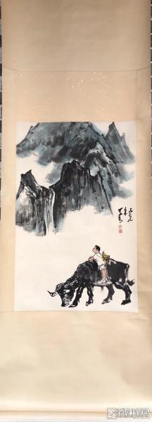 李可染        纯手绘        国画(卖家包邮)              工艺品
