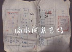 民国故纸一张:1945年《云南省合作社物品供销处姚安县分处社员购盐摺》【填发日期为1944年,品如图】
