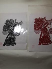 京剧人物剪纸,3元1张
