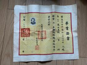 哈尔滨外国语专科学校,毕业证书,背面中间有黏贴