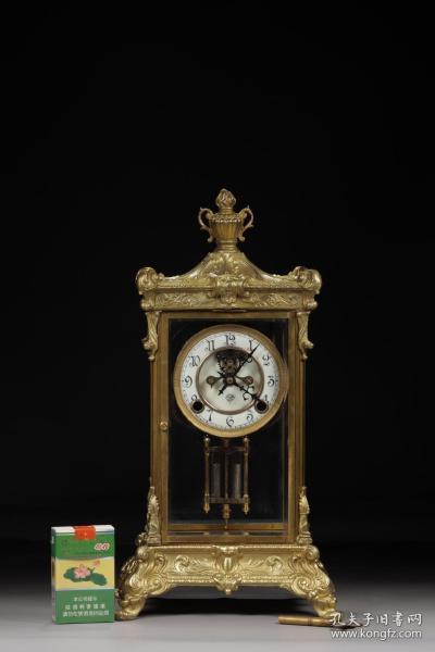 民国,铜鎏金西洋座钟