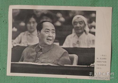 宣传画/伟大领袖毛主席永远活在我们心中/之六十二/毛主席在中国共产党第十次全国代表大会上