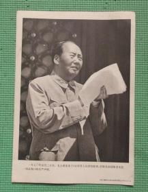 宣传画/伟大领袖毛主席永远活在我们心中/之五十九/毛主席发表打败美国侵略者及其一切走狗的庄严声明