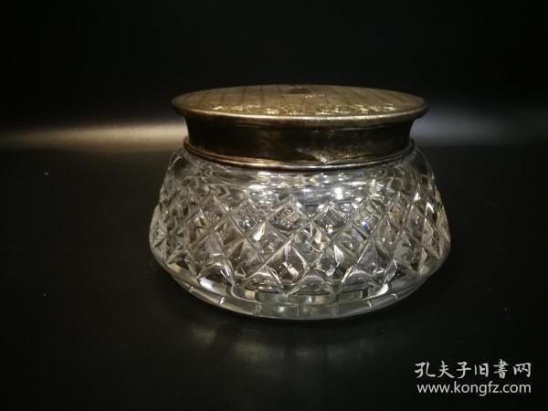 纯银手工车切水晶茶叶罐