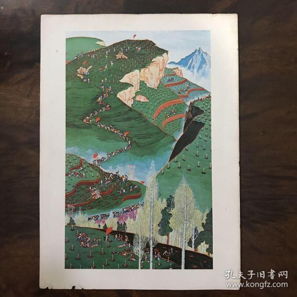 文革时期彩印宣传画——绿化秦岭