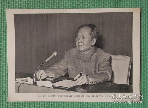 宣传画/伟大领袖毛主席永远活在我们心中/之五十七/毛主席在中国共产党第八届中央委员会议上