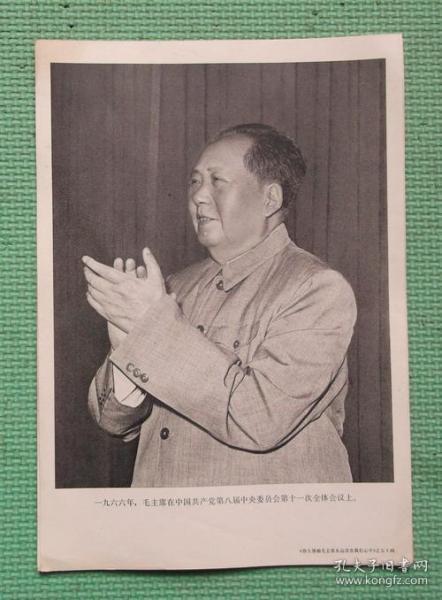 宣传画/伟大领袖毛主席永远活在我们心中/之五十四/毛主席在中国共产党第八届中央委员会会议上