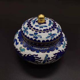 古玩收藏景泰蓝香炉复古宝家居装饰品客厅中式X
