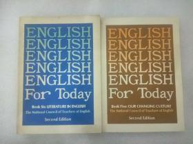 《ENGLISH  FOR . TODAY 》5.6两册合售。