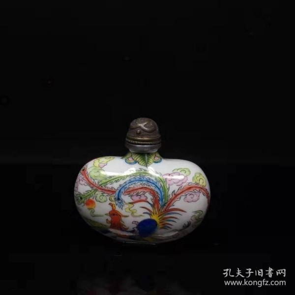 古玩收藏景泰蓝鼻烟壶纯手工绘制把玩特色礼品货收藏博古架摆件X