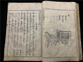 "A lot of prints ""Clear Custom Chronicles"" are stored in 1 volume and 3 volumes (volumes 3, 4, and 5), and the third volume is the Qing Dynasty Crown Department, including the official's complement, hats, men's and women's clothing, sedan chairs, etc .; the fourth volume of diet Department, including a variety of snacks of the Qing Dynasty; the fifth volume depicts inquiry, including the school layout at that time, county school maps, scholars' entrance ceremony maps, opening tickets, homework lists and other introductions. It is an investigation record of traditional folk customs and social conditions in the areas of Jiangxi, Zhejiang, and Fujian in the Qianlong period of the Qing Dynasty in China. It is a material obtained directly by the Japanese government from ordinary merchants in the Qing Dynasty. The detailed description is very distinctive in the historical documents and materials."