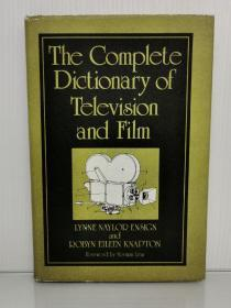 The Complete Dictionary of Television and Film by Lynne Naylor Ensign and Robyn Eileen Knapton (电影研究)英文原版书