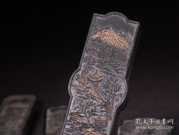 【回流 油烟墨『西湖十景』藏墨】