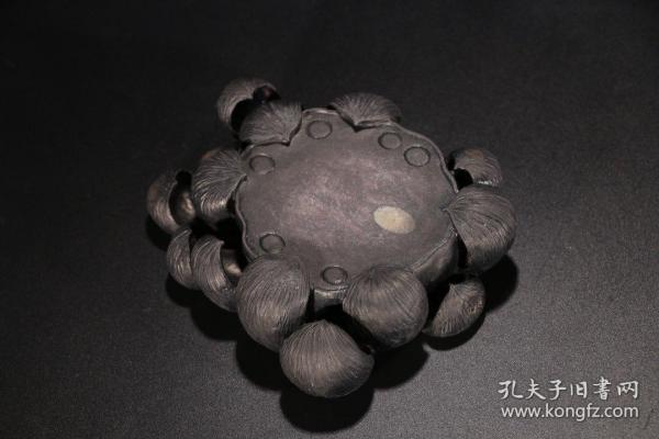 旧藏 文房莲花砚