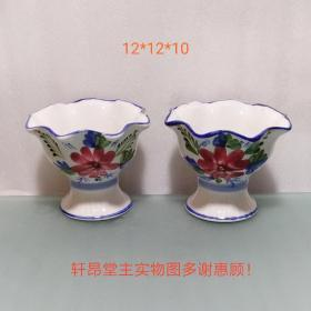 Magnificent, good home decoration, early blue and white porcelain, old flower pots
