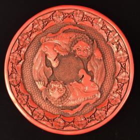 Lacquer fruit plate
