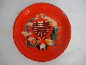 Dragon and Phoenix Enamel Plate