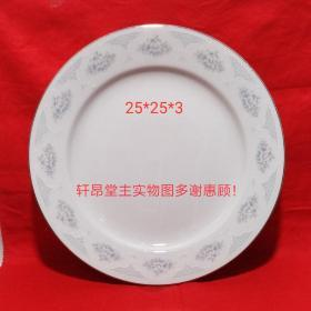 Silver-gray peony and bouquet pattern Early export large porcelain plates (stock, unused, there are 4. A 15 yuan)