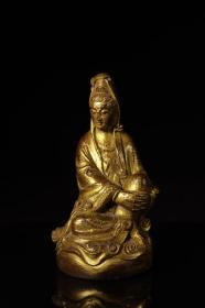 Bamboo Lacquered Gold Buddha Statue