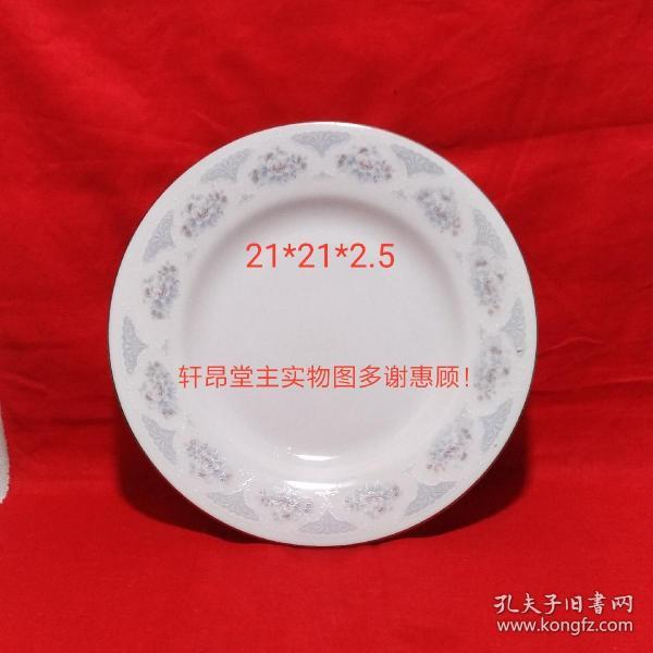 Silver gray peony and bouquet pattern Early export small porcelain plates (stock, unused, a total of 4. A 12 yuan)