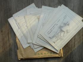 """Nineteen manuscript originals and finalized manuscripts of """"The Legend of the Emerald Tower"""" by Hebei Fine Arts Publishing House. More detailed artwork. Which painter did Meng Qingjiang, Zhang Zengmu, Zhao Jinzhang, Cui Aimin, Cui Cunzhong, Liu Huijun, and Zhao Shuanzao paint? Please customize it."""