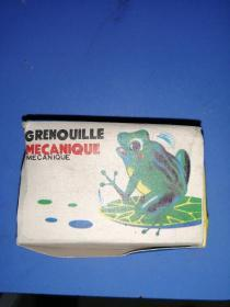 Tin frog with certificate with original box