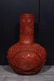 """Old Collection """"Large Qing Emperor Qianlong"""" Scenic Celestial Bottle"""