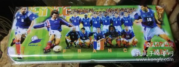 Football stationery box (1998 France World Cup) France team (Zidane) intact