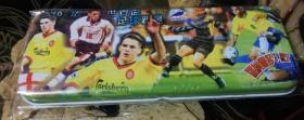 Football Stationery Box (1998 World Cup Football Rising Star) Ronaldo & Irving (intact)