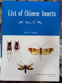 中国昆虫名录 IV 英文List of Chinese insects.