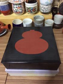 Solid wood lacquer box Japanese lacquerware Size 18 * 18 * 5.8cm All products Large Decades Items With carton