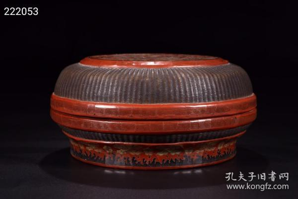 Qing Dynasty: Large Lacquered and Painted Jiangya Water Dragon Box