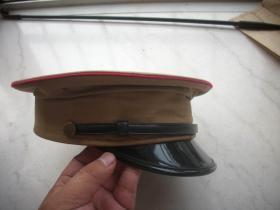 五十年代【軍官大檐帽】兩側對稱有2氣孔!內徑18厘米