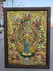 Buddhist theme, Nanmu Thangka, exquisite style, thick paste, as shown in the picture, the single price is 390 yuan.